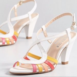 Strappy Multi-Colored NWB Heels by Chelsea Crew